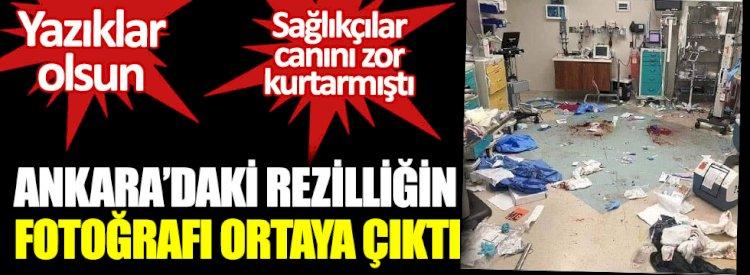 : Ankara'da rezilliğin fotoğrafın fotoğrafı ortaya çıktı.