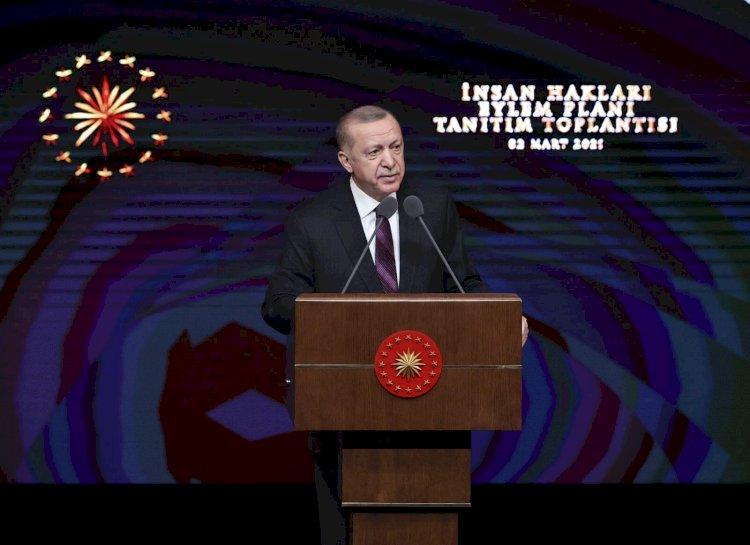 Cumhurbaşkanı Erdoğan, İnsan Hakları Eylem Planı'nı açıkladı: Nihai amaç yeni ve sivil bir anayasa