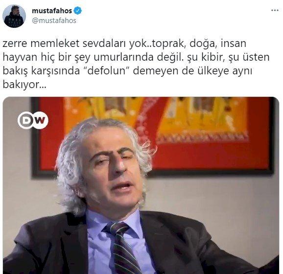 Gazeteci Mustafa Hoş'tan Kaz Dağları'nda altın çıkarmak isteyen şirketin Genel Müdür'ün sözlerine tepki